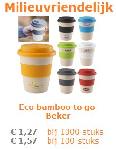 Eco bamboo to go beker