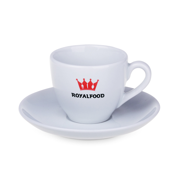 Queen kop en schotel porselein 80 ml espresso