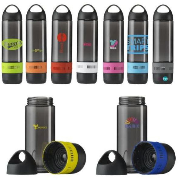 BottleBeatz Tritan 2-in-1 waterfles met speaker 500 ml